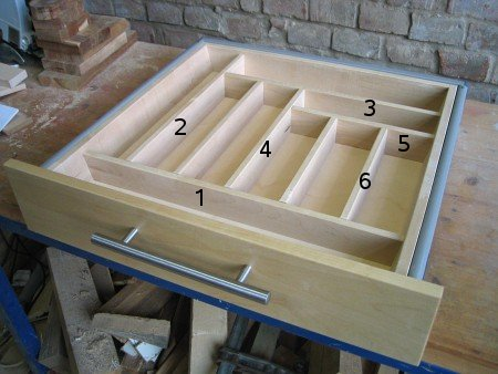 Schubladeneinsatz selber bauen tische fur die kuche for Schubladeneins tze küche
